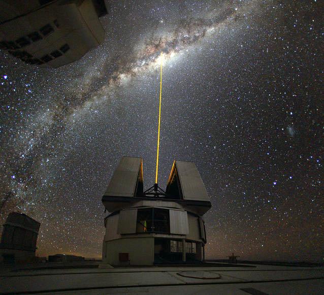 Лазер в космос с Нулевой меридианы Гринвич